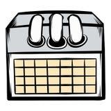 Desktop calendar icon cartoon Stock Photos