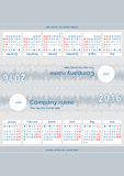 Desktop calendar for 2016. Print ready desktop calendar for year 2016, made from just a single sheet of A4 paper, folded in 4 parts. 2 sides, 6 months each, week Royalty Free Stock Photos