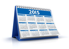 Desktop Calendar 2015 Stock Photography