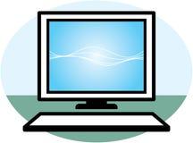 Desktop computer – keyboard and monitor Royalty Free Stock Images
