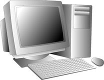 Desktop computer. Illustration of a desktop computer workstation system Stock Illustration
