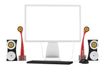 Desktop computer Royalty Free Stock Photos