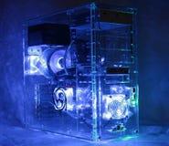 Desktop computer. Custom built desktop computer glowing Stock Photos
