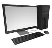 Desktop computer. Vector desktop computer with detailed elements vector illustration