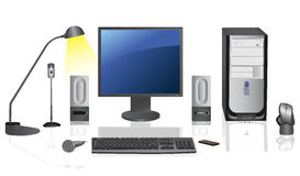 Desktop computer. illustrazione di stock