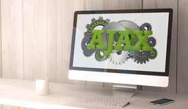 Desktop computer ajax Stock Photos