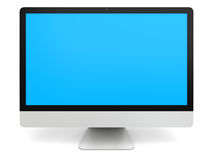 Desktop computer with blue screen Stock Photo
