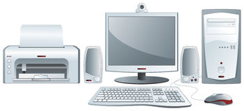 Desktop computer configuration Royalty Free Stock Photos