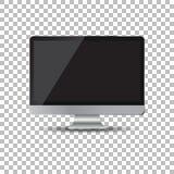 Desktop computer flat icon. Realistic vector illustration Royalty Free Stock Photos
