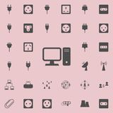 Desktop computer icon. Detailed set of  Minimalistic  icons. Premium quality graphic design sign. One of the collection icons for. Websites, web design, mobile Stock Images