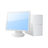 Desktop computer icon Stock Image
