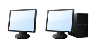 Desktop computer icons. Set of desktop computer icons. Vector illustration Stock Photo