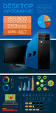 Desktop Computer Infographic Elements - Vector Stock Photos