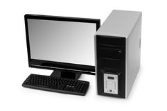 Desktop computer isolated Stock Photo