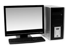 Desktop computer isolated Royalty Free Stock Images