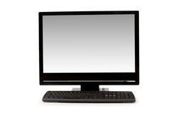 Desktop computer isolated. On the white background Stock Photo