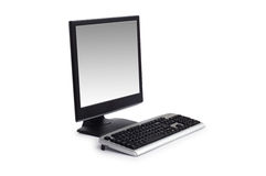 Desktop computer isolated Royalty Free Stock Photo