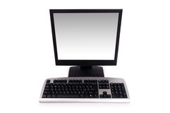 Desktop computer isolated Stock Photography