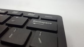 Desktop computer keyboard, with soft black and comfortable to use. Keyboards are usually used by office workers to quickly click on articles royalty free stock photography