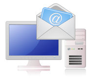 Desktop Computer and Mail Stock Images
