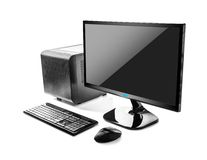 Desktop computer. Modern computer over white background Royalty Free Stock Image