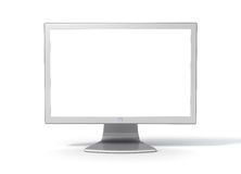 Desktop Computer Monitor -  Front. Generic silver metallic computer monitor Front facing. With empty/blank screen Royalty Free Stock Image