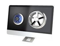 Desktop computer network security Royalty Free Stock Photo