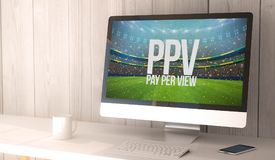 desktop computer pay per view Fotografia Stock