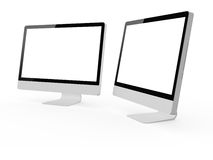 Desktop Computer Screens Royalty Free Stock Photography