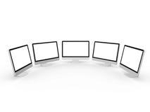 Desktop Computer Screens Stock Photography