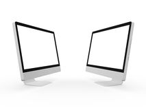 Desktop Computer Screens Stock Image