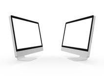 Desktop Computer Screens Stock Image