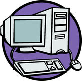 desktop computer vector illustration royalty free illustration