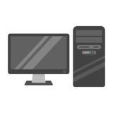 Desktop computer vector vector illustration