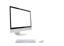 Desktop computer with wireless keyboard Stock Image