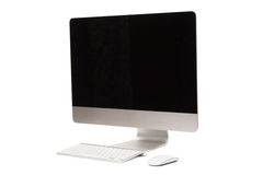 Desktop computer with wireless keyboard and mouse Stock Photos