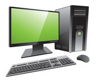 Desktop computer workstation  Stock Photos