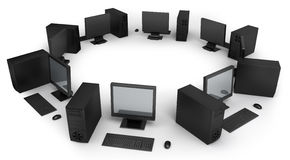 Desktop computers Stock Photo
