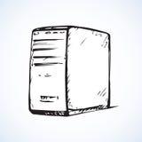 Desktop cpu. Vector drawing Stock Image