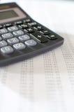 Desktop da contabilidade Imagem de Stock