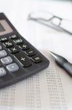 Desktop da contabilidade Fotografia de Stock Royalty Free