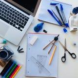 Desktop della scuola fotografia stock