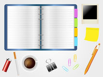 Desktop and diary Stock Photography