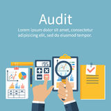 Auditing concepts. Vector flat style Stock Photos