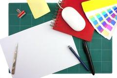 Desktop dos desenhadores gráficos Fotografia de Stock