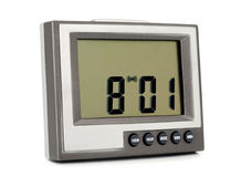 Desktop electronic clock Royalty Free Stock Photography