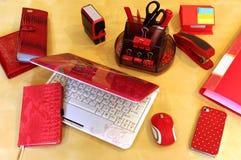 Desktop für Geschäfts-Dame Stockfotos