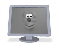 Desktop face Stock Image