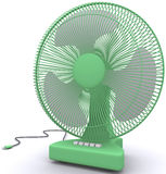 Desktop fan. On a white background Royalty Free Stock Photography