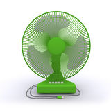 Desktop fan. On a white background Stock Photo